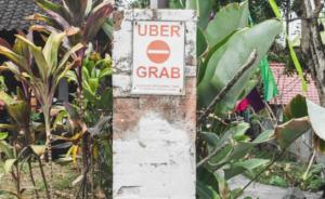 Grab ban Bali