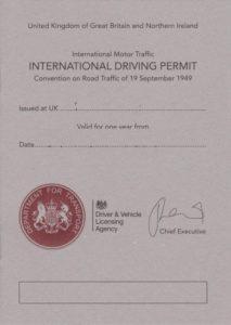 International driver permit UK